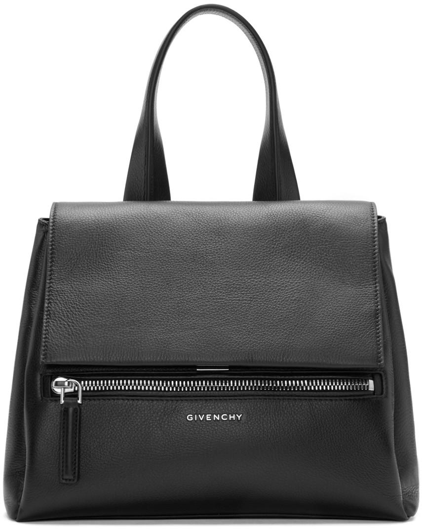 Black Leather Small Pandora Bag