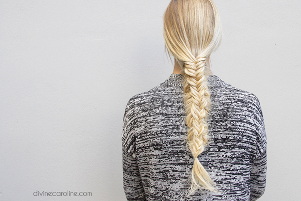 A Beautiful Fresh Twist on the Split Fishtail Braid
