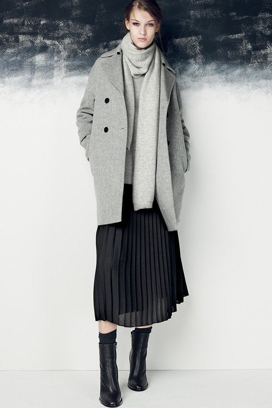 From the Autumn and Continues to This Summer You Need a Pleated Skirt!