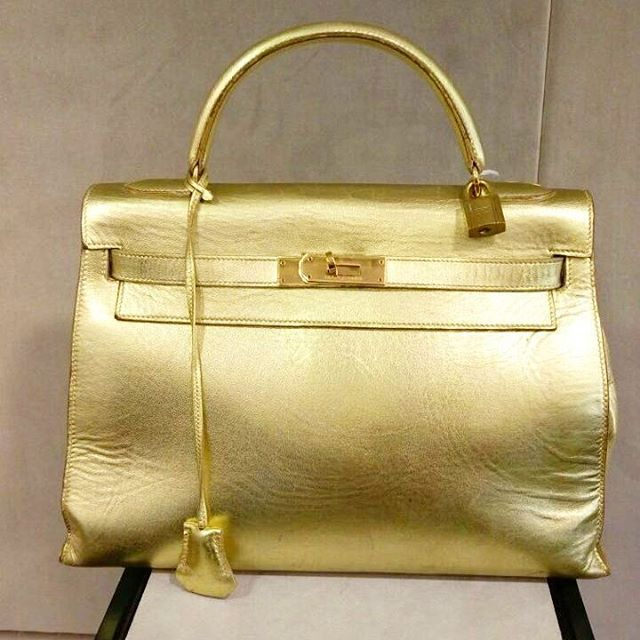 Hermes-Kelly-Metallic-Gold-Bag