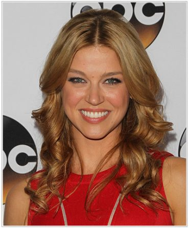 Adrianne Palicki Long Wavy Hairstyle.