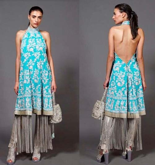 10. Halter Backless Pattern For Net Kurtis