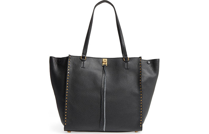 7. Leather Tote Travel Bag